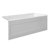 eSPACE 54'' W x 30'' D White Acrylic Bathtub with Integral Designer Skirt with Right Hand Drain, 54'' W x 30'' D x 22'' H