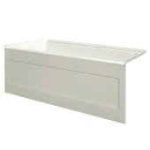 eSPACE 54'' W x 32'' D Biscuit Acrylic Bathtub with Integral Designer Skirt with Left Hand Drain, 54'' W x 32'' D x 22'' H