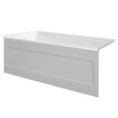 eSPACE 54'' W x 32'' D White Acrylic Bathtub with Integral Designer Skirt with Left Hand Drain, 54'' W x 32'' D x 22'' H