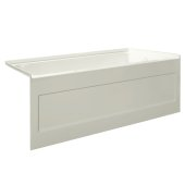 eSPACE 54'' W x 32'' D Biscuit Acrylic Bathtub with Integral Designer Skirt with Right Hand Drain, 54'' W x 32'' D x 22'' H