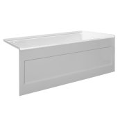 eSPACE 54'' W x 32'' D White Acrylic Bathtub with Integral Designer Skirt with Right Hand Drain, 54'' W x 32'' D x 22'' H