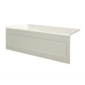 eSPACE 60'' W x 30'' D Biscuit Acrylic Bathtub with Integral Designer Skirt with Left Hand Drain, 60'' W x 30'' D x 22'' H