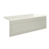 eSPACE 60'' W x 30'' D Biscuit Acrylic Bathtub with Integral Designer Skirt with Right Hand Drain, 60'' W x 30'' D x 22'' H