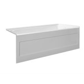 eSPACE 60'' W x 30'' D White Acrylic Bathtub with Integral Designer Skirt with Right Hand Drain, 60'' W x 30'' D x 22'' H