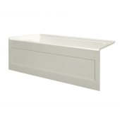eSPACE 60'' W x 32'' D Biscuit Acrylic Bathtub with Integral Designer Skirt with Left Hand Drain, 60'' W x 32'' D x 22'' H