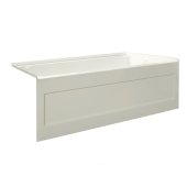 eSPACE 60'' W x 32'' D Biscuit Acrylic Bathtub with Integral Designer Skirt with Right Hand Drain, 60'' W x 32'' D x 22'' H