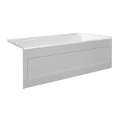 eSPACE 60'' W x 32'' D White Acrylic Bathtub with Integral Designer Skirt with Right Hand Drain, 60'' W x 32'' D x 22'' H