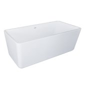 GEM 59'' White Contemporary Rectangular Freestanding Acrylic Insulated Bathtub, 59'' W x 27-1/2'' D x 24'' H