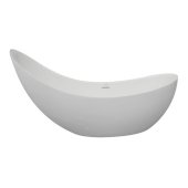 GRACE 81'' White Contemporary Slipper Freestanding Acrylic Insulated Bathtub, 81'' W x 30-3/4'' D x 26-1/4'' H