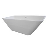 LUSH 71'' Gloss White Contemporary Rectangular Freestanding Matte Cast Resin Insulated Bathtub, 70-1/4'' W x 33-1/4'' D x 21-1/2'' H