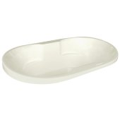 Neptune Contemporary 70'' W x 40'' D Biscuit Oval Acrylic Contoured Drop-In Bathtub, 70'' W x 40'' D x 26-1/2'' H