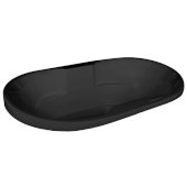 Neptune Contemporary 70'' W x 40'' D Black Oval Acrylic Contoured Drop-In Bathtub, 70'' W x 40'' D x 26-1/2'' H