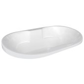 Neptune Contemporary 70'' W x 40'' D White Oval Acrylic Contoured Drop-In Bathtub, 70'' W x 40'' D x 26-1/2'' H