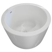 OPES 41'' White Contemporary Round with Molded Seat Freestanding Acrylic Insulated Bathtub, 41'' W x 41'' D x 26-1/2'' H