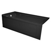 OVO 60'' W x 30'' D Black Acrylic Bathtub with Decorative Integral Skirt, Left Hand Drain, 60'' W x 30'' D x 20'' H