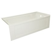 OVO 60'' W x 30'' D Biscuit Acrylic Bathtub with Decorative Integral Skirt, Right Hand Drain, 60'' W x 30'' D x 20'' H