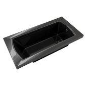 OVO 60'' W x 32'' D Contemporary Black Rectangular Acrylic Drop-In Bathtub, 60'' W x 32'' D x 20'' H