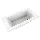 OVO 60'' W x 32'' D Contemporary White Rectangular Acrylic Drop-In Bathtub, 60'' W x 32'' D x 20'' H