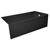 OVO 60'' W x 32'' D Black Acrylic Bathtub with Decorative Integral Skirt, Right Hand Drain, 60'' W x 32'' D x 20'' H