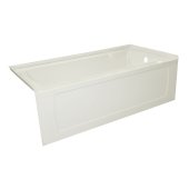 OVO 66'' W x 32'' D Biscuit Acrylic Bathtub with Decorative Integral Skirt, Right Hand Drain, 66'' W x 32'' D x 20'' H
