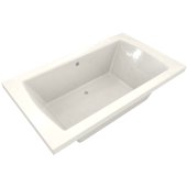 OVO 72'' W x 42'' D Contemporary Biscuit Rectangular Acrylic Drop-In Bathtub with Center Drain, 72'' W x 42'' D x 22'' H