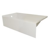 OVOjr 60'' W x 30'' D Biscuit Acrylic Bathtub with Smooth Integral Skirt, Left Hand Drain, 60'' W x 30'' D x 16'' H
