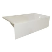 OVOjr 60'' W x 30'' D Biscuit Acrylic Bathtub with Smooth Integral Skirt, Right Hand Drain, 60'' W x 30'' D x 16'' H