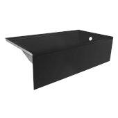 OVOjr 60'' W x 30'' D Black Acrylic Bathtub with Smooth Integral Skirt, Right Hand Drain, 60'' W x 30'' D x 16'' H