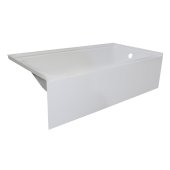 OVOjr 60'' W x 30'' D White Acrylic Bathtub with Smooth Integral Skirt, Right Hand Drain, 60'' W x 30'' D x 16'' H