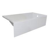 OVOjr 60'' W x 30'' D White Acrylic Bathtub with Smooth Integral Skirt, Right Hand Drain, 60'' W x 30'' D x 16'' H