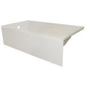 OVOjr 60'' W x 32'' D Biscuit Acrylic Bathtub with Smooth Integral Skirt, Left Hand Drain, 60'' W x 32'' D x 16'' H
