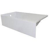 OVOjr 60'' W x 32'' D White Acrylic Bathtub with Smooth Integral Skirt, Left Hand Drain, 60'' W x 32'' D x 16'' H