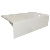OVOjr 60'' W x 32'' D Biscuit Acrylic Bathtub with Smooth Integral Skirt, Right Hand Drain, 60'' W x 32'' D x 16'' H