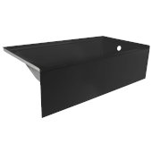 OVOjr 60'' W x 32'' D Black Acrylic Bathtub with Smooth Integral Skirt, Right Hand Drain, 60'' W x 32'' D x 16'' H
