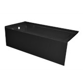 OVO 60'' W x 30'' D Black Acrylic Bathtub with Smooth Integral Skirt, Left Hand Drain, 60'' W x 30'' D x 20'' H