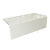 OVO 60'' W x 30'' D Biscuit Acrylic Bathtub with Smooth Integral Skirt, Right Hand Drain, 60'' W x 30'' D x 20'' H