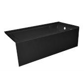 OVO 60'' W x 30'' D Black Acrylic Bathtub with Smooth Integral Skirt, Right Hand Drain, 60'' W x 30'' D x 20'' H