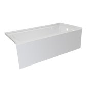 OVO 60'' W x 30'' D White Acrylic Bathtub with Smooth Integral Skirt, Right Hand Drain, 60'' W x 30'' D x 20'' H