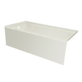 OVO 60'' W x 32'' D Biscuit Acrylic Bathtub with Smooth Integral Skirt, Left Hand Drain, 60'' W x 32'' D x 20'' H