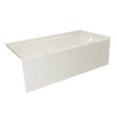 OVO 60'' W x 32'' D Biscuit Acrylic Bathtub with Smooth Integral Skirt, Right Hand Drain, 60'' W x 32'' D x 20'' H