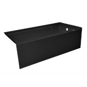 OVO 60'' W x 32'' D Black Acrylic Bathtub with Smooth Integral Skirt, Right Hand Drain, 60'' W x 32'' D x 20'' H