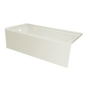 OVO 66'' W x 30'' D Biscuit Acrylic Bathtub with Smooth Integral Skirt, Left Hand Drain, 66'' W x 30'' D x 20'' H