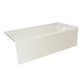 OVO 66'' W x 30'' D Biscuit Acrylic Bathtub with Smooth Integral Skirt, Right Hand Drain, 66'' W x 30'' D x 20'' H