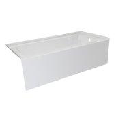 OVO 66'' W x 30'' D White Acrylic Bathtub with Smooth Integral Skirt, Right Hand Drain, 66'' W x 30'' D x 20'' H