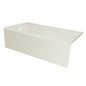 OVO 66'' W x 32'' D Biscuit Acrylic Bathtub with Smooth Integral Skirt, Left Hand Drain, 66'' W x 32'' D x 20'' H