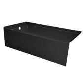 OVO 66'' W x 32'' D Black Acrylic Bathtub with Smooth Integral Skirt, Left Hand Drain, 66'' W x 32'' D x 20'' H