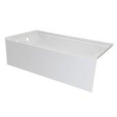 OVO 66'' W x 32'' D White Acrylic Bathtub with Smooth Integral Skirt, Left Hand Drain, 66'' W x 32'' D x 20'' H