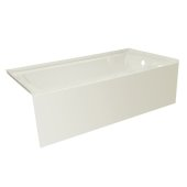 OVO 66'' W x 32'' D Biscuit Acrylic Bathtub with Smooth Integral Skirt, Right Hand Drain, 66'' W x 32'' D x 20'' H