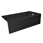 OVO 66'' W x 32'' D Black Acrylic Bathtub with Smooth Integral Skirt, Right Hand Drain, 66'' W x 32'' D x 20'' H
