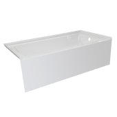 OVO 66'' W x 32'' D White Acrylic Bathtub with Smooth Integral Skirt, Right Hand Drain, 66'' W x 32'' D x 20'' H